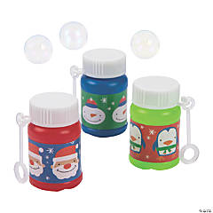 Christmas Mini Bubble Bottles