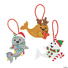 Christmas Narwhal Ornament Craft Kit
