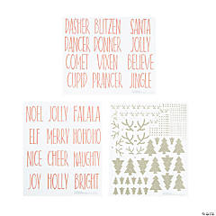 Christmas Ornament Decal Sticker Sheets