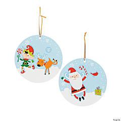 Christmas Ornament Sticker Scenes