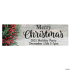 Christmas Party Custom Banner - Small