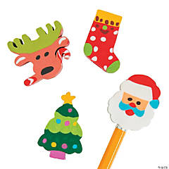 Christmas Pencil Eraser Toppers