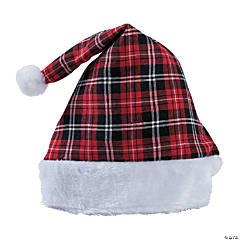 86d9b1f9436f5 Christmas Plaid Santa Hat