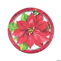 Christmas Poinsettia Dinner Plates - 8 Ct.