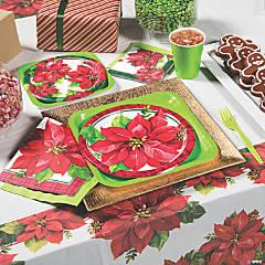 christmas poinsettia party supplies