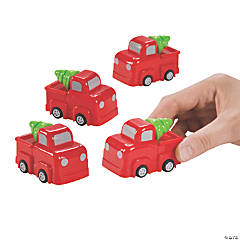 Christmas Pull-Back Trucks