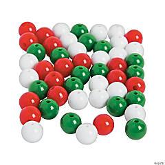 Christmas Round Beads - 12mm