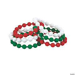 Christmas Rubber Beaded Bracelets