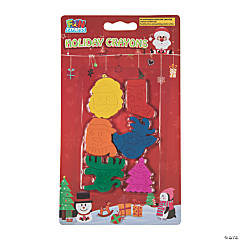 Christmas Shapes Crayons