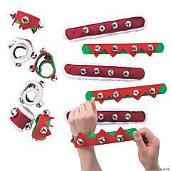 Christmas Slap Bracelet with Jingle Bells