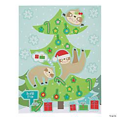 Christmas Sloth Sticker Scenes