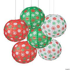 Christmas Snowflake Paper Lanterns