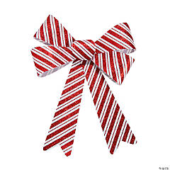 Christmas Striped Glitter Bows