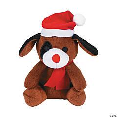 Christmas Stuffed Puppies - 12 Pc.