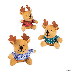 Christmas Stuffed Reindeer with Ugly Sweaters PDQ