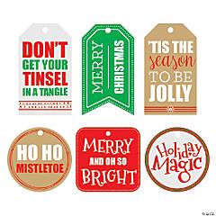Christmas Tag Wall Cutouts
