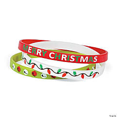 Christmas Thin Band Silicone Bracelet Assortment