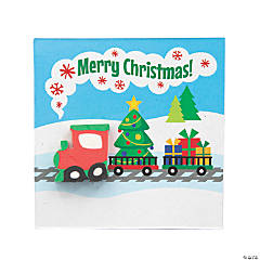 Christmas Train Erasers with Card