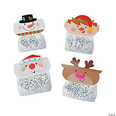Christmas Treat Bag Toppers with Bags