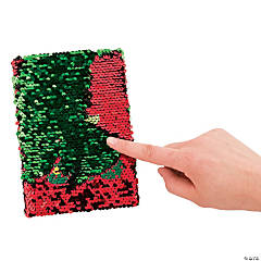 Christmas Tree Flipping Sequins Notebook