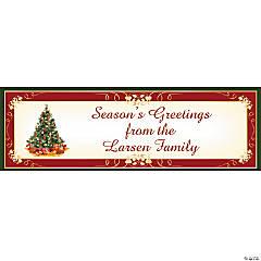 Christmas Tree Holiday Custom Banner - Medium