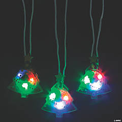 Christmas Tree Light-Up Necklaces
