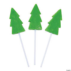 Christmas Tree Lollipops