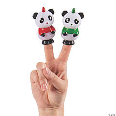 Christmas Unicorn Panda Finger Puppets