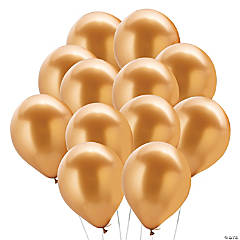 "Chrome Gold 11"" Latex Balloons"