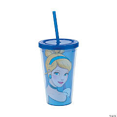 Cinderella Tumbler with Lid & Straw
