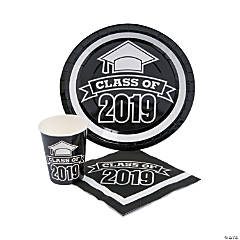 Class of 2019 Black Tableware Set for 50