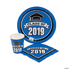 Class of 2019 Blue Tableware Set for 50
