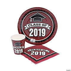 Class of 2019 Burgundy Tableware Set for 50