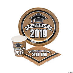 Class of 2019 Gold Tableware Set for 50