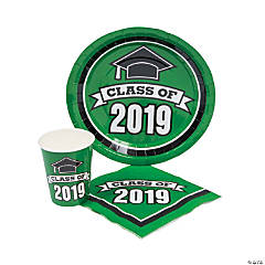 Class of 2019 Green Tableware Set for 50