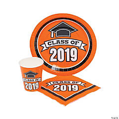 Class of 2019 Orange Tableware Set for 100