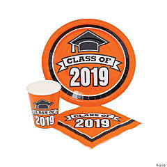Class of 2019 Orange Tableware Set for 50