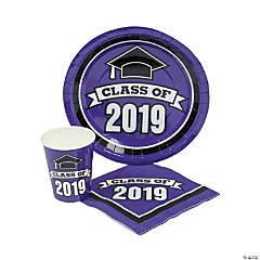 Class of 2019 Purple Tableware Set for 100