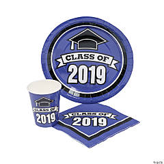 Class of 2019 Purple Tableware Set for 50