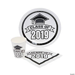 Class of 2019 White Tableware Set for 50