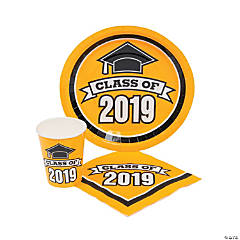 Class of 2019 Yellow Tableware Set for 100