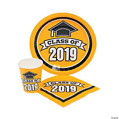 Class of 2019 Yellow Tableware Set for 50
