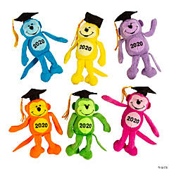 Class of 2020 Neon Stuffed Monkeys