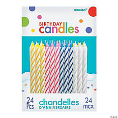 Classic Birthday Candles - 24 Pc.