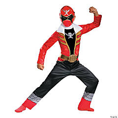 Classic Super Megaforce Red Ranger Costume for Boys