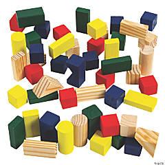 Classic Wood Block Set - 50 Pcs.