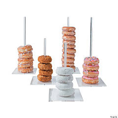 Clear Donut Serving Stands