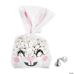 Clear Easter Bunny Face Cellophane Bags