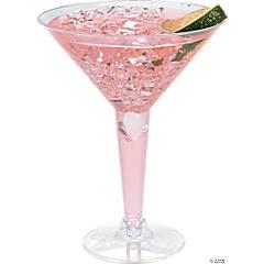 Clear Plastic Martini Glasses