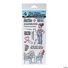 Clear Stamp Set-Proud Nurse